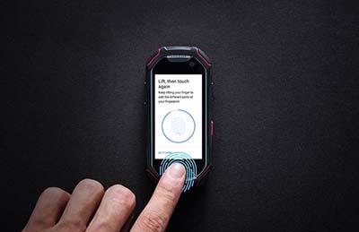 Smartphone Atom tích hợp bảo mật bằng cảm biến vân tay