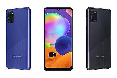 Điện thoại Samsung Galaxy A31 - Với 2 màu sắc cơ bản Đen, Xanh