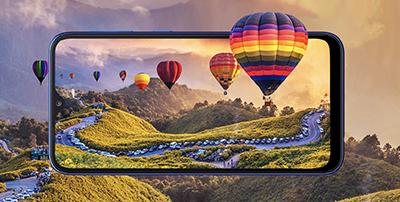Sumsung Galaxy A10 được trang bị màn hình LCD Infinity-V.