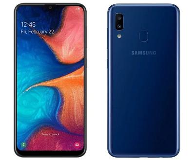 Điện thoại Samsung Galaxy A20 với tổng quan thiết kế sang trọng