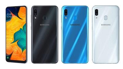 Với 3 màu sắc trên điện thoại Samsung Galaxy A30 : Đen, Xanh, Trắng