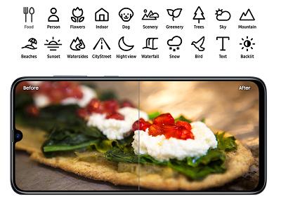Tính năng hổ trợ hình ảnh trên Samsung Galaxy A70
