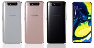 Với 3 màu sắc : Đen, Bạc và Vàng trên điện thoại Samsung Galaxy A80