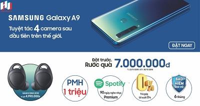 Chương trình Pre-Order Samsung Galaxy A9 2018 nhận ngay ưu đãi lớn.