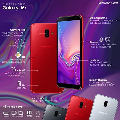 Điện thoại Samsung Galaxy j6+.
