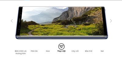 Tính năng tối ưu hóa cảnh trên điện thoại Samsung Galaxy Note 9