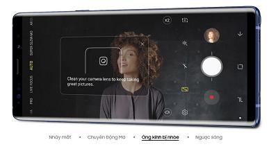 Tính năng nhận diện ảnh lỗi trên điện thoại Samsung Galaxy Note 9
