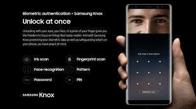 Tính năng bảo mật trên Samsung Galaxy Note 9