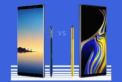 So sánh giữa Samsung Galxy Note 9 và Note 8