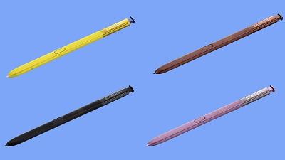 Bút Spen với màu sắc khác nhau của điện thoại Samsung Galaxy Note 9