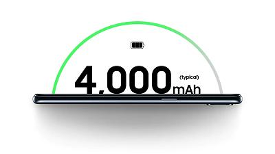 Dung lượng pin cao 4000mAh trên Samsung Galaxy A10s