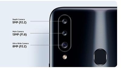 Cụm camera cùng tính năng hỗ trợ được nâng cấp trên Samsung Galaxy A20s