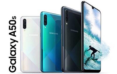 Với 3 màu sắc : Đen, Trắng và Xanh trên Samsung Galaxy A50s
