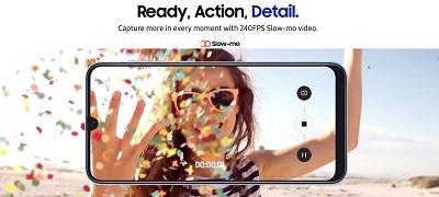 Khả năng quay 4K cực đỉnh trên Samsung Galaxy A50s
