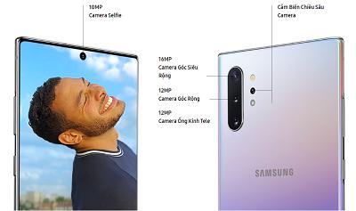 Bộ đôi camera trên điện thoại Samsung Galaxy Note 10+