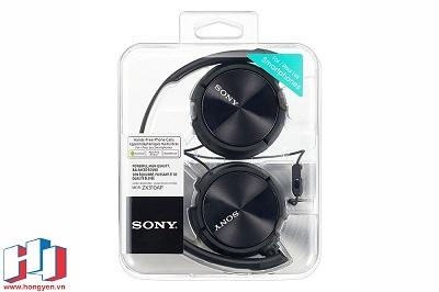 Phần hộp được làm hoàn toàn bằng nhựa trong của Sony MDR-ZX310AP.