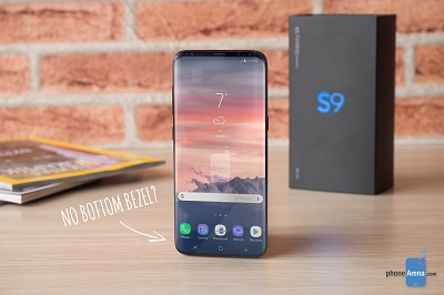 Galaxy S9 không có viền đáy