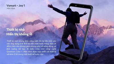 Điện thoại Vsmart Joy 1 - Với màn hình hiển thị sống động, sắc nét.