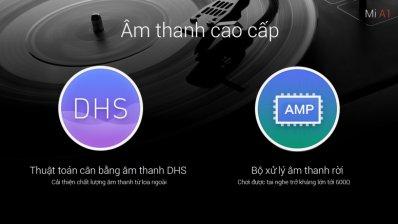 Thuật toán cân bằng âm thanh DHS được trang bị trên Xiaomi Mi A1