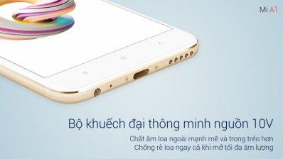 Loa Xiaomi Mi A1 chất hơn với âm-li 10V