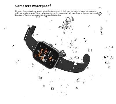 Khả năng chống nước lên đến 50m của Xiaomi Amazfit GTS