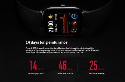 Thời lượng pin cực khủng lên đến 46 ngày sử dụng