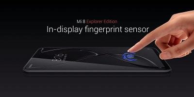 Cảm biến vân tay tích hợp ngay trên màn hình của Xiaomi Mi 8 Pro
