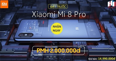Điện thoại Xiaomi Mi 8 Pro