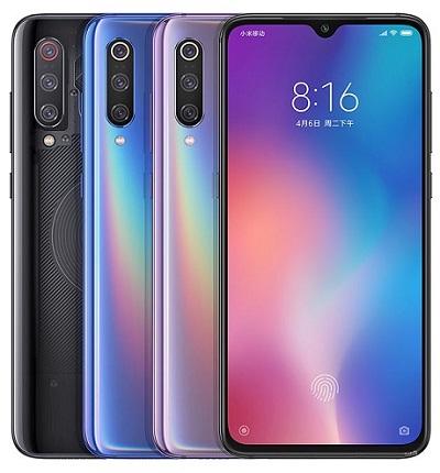 Với 3 màu sắc khác biệt trên điện thoại Xiaomi Mi 9 : Đen, Tím, Xanh