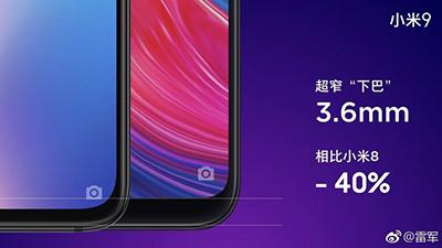 Xiaomi tự tin khẳng định rằng Mi 9 được thiết kế tin tế với chiếc cầm mỏng hơn 40%