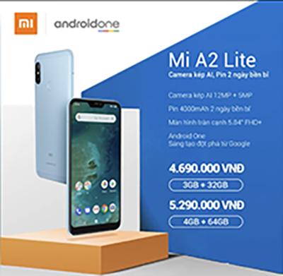Mức giá bày bán chính thức tại thị trường Việt Nam đối với Mi A2 Lite