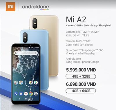 Mức giá lên kệ của Xiaomi Mi A2