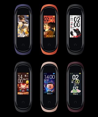 Một số hình ảnh bạn có thể thay đổi trên vòng đeo tay Xiaomi Mi Band 4