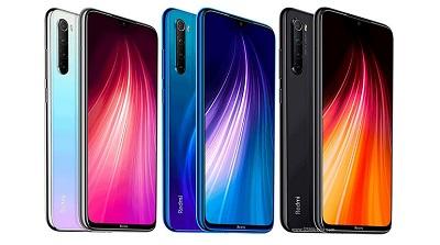 Với 3 màu : Đen, Trắng, Xanh trên điện thoại Xiaomi Redmi Note 8