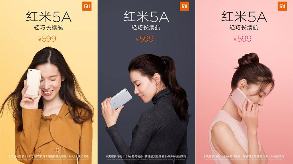 Xiaomi Redmi 5A ra mắt