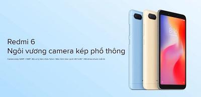 Điện thoại Xiaom Redmi 6