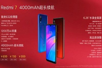 Điện thoại Xiaomi Redmi 7 sở hữu một hiệu năng manh mẽ trong cùng mức giá