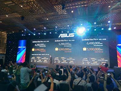 Asus vừa công bố mức giá cho các phiên bản Zenfone Max Pro trong sự kiện ra mắt chiều 3/7/2018.