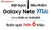 Đặt gạch siêu phẩm Samsung Galaxy Note 10+ với phần quà độc quyền trị giá X triệu.