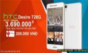 CƠ HỘI VÀNG ĐỂ SỞ HỮU HTC DESIRE 728G DUAL SIM VỚI MỨC GIÁ HẤP DẪN