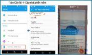 Phần mềm mới cho điện thoại Sony Xperia M4 Aqua