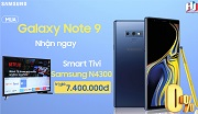 Mua Samsung Galaxy Note 9 nhận ngay Smart TV LED Samsung