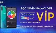 ƯU ĐÃI MÃ VIP ZING MP3 CHO CHỦ SỞ HỮU GALAXY A20s/A30s/A50s