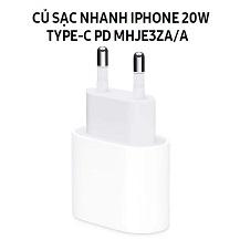 Sạc nhanh Apple iPhone 20W Type-C MHJE3ZA